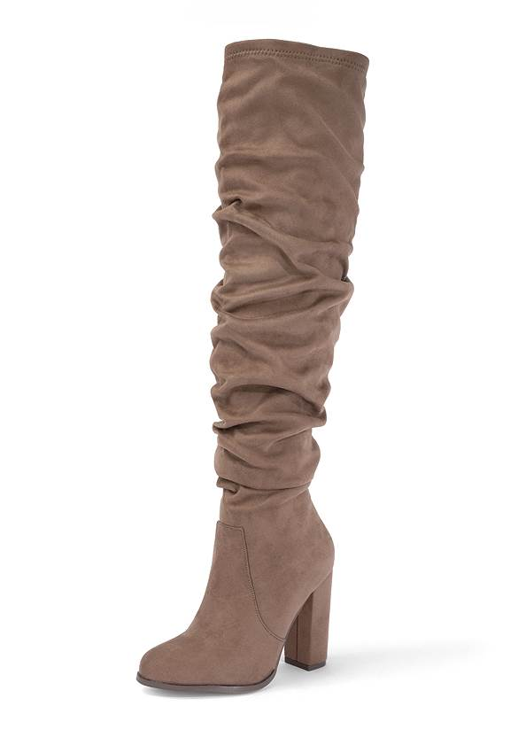 Slouchy Block Heel Boots