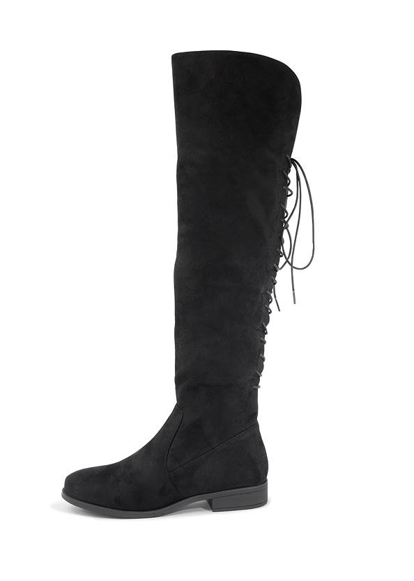 Alternate View Back Lace Up Flat Boots