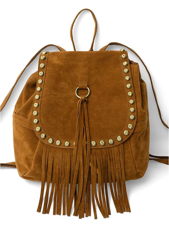 Studded Fringe Backpack,Jean Jacket,Basic Cami Two Pack,Casual Bootcut Jeans,Peep Toe Print Heels