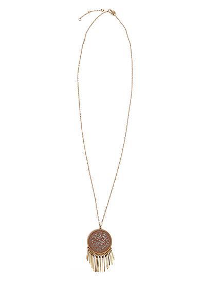 Cutout Pendant Necklace