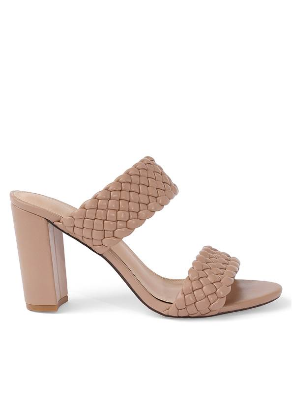 Shoe series side view Braided Double Strap Mules