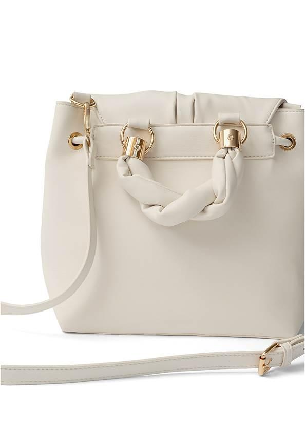 Flatshot front view Twist Handle Satchel Bag