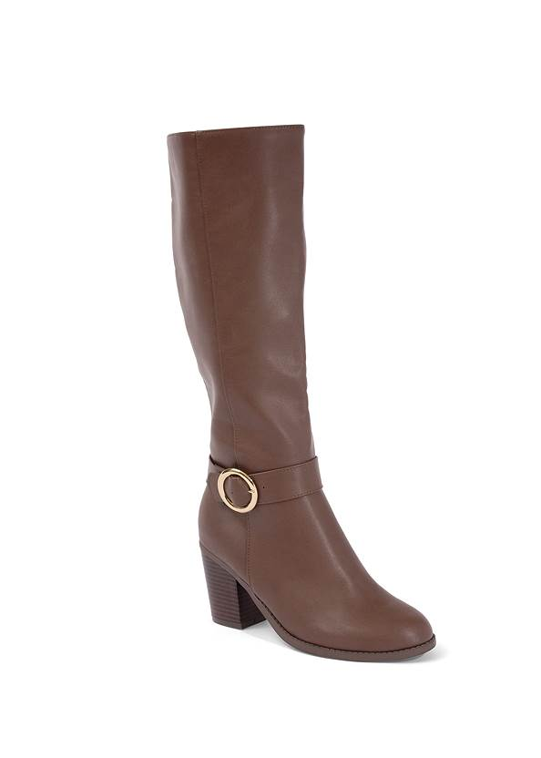 Shoe series 40° view Faux Leather Buckle Boots