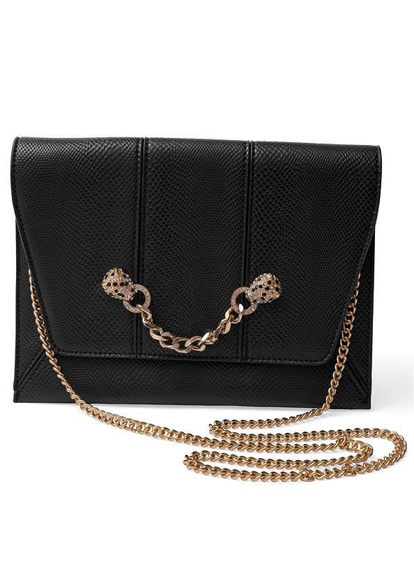 Animal Chain Crossbody Bag,Chain Detail Hoop Earrings