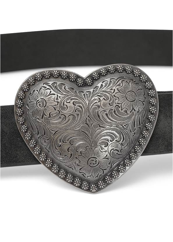 Alternate View Heart Buckle Belt