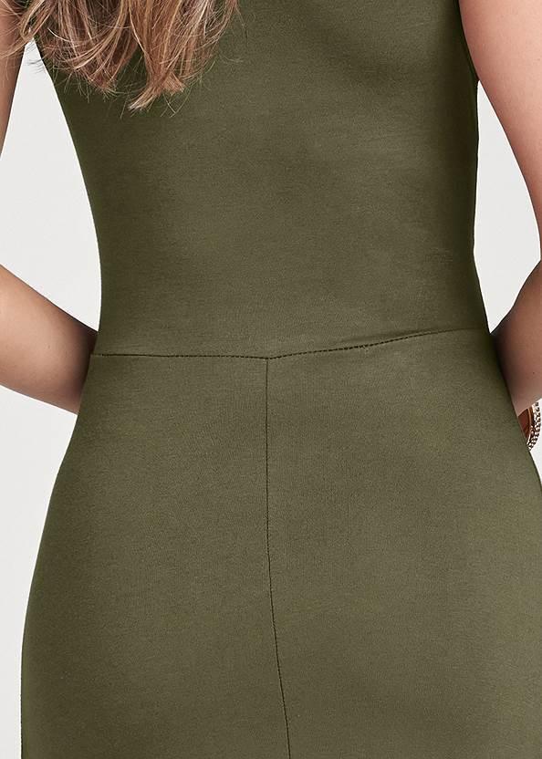 Alternate View Grommet Detail Maxi Dress