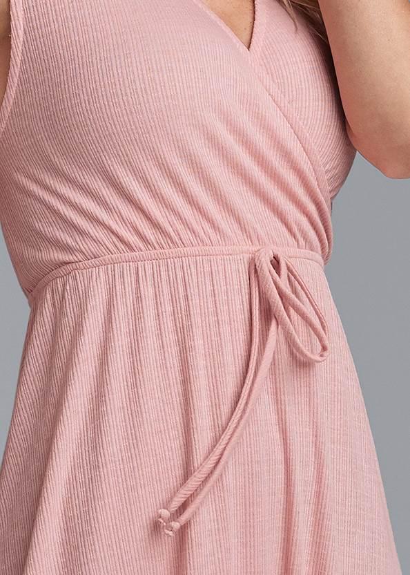 Detail front view Surplice Maxi Dress