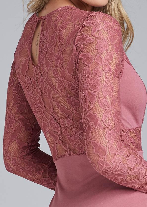 Detail back view Lace Detail Bodycon Dress