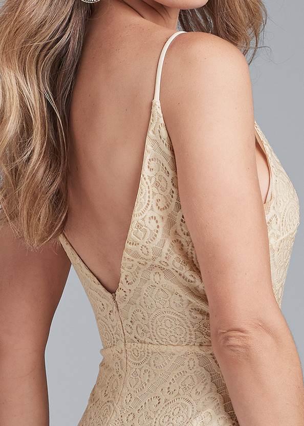 Detail back view Lace Mini Dress
