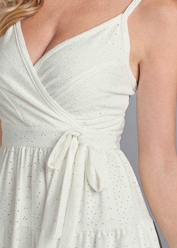 Alternate View Surplice Tiered Dress