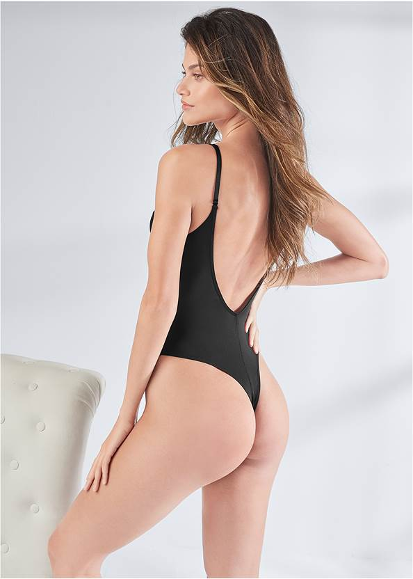 Cropped back view Illusion Mesh Teddy