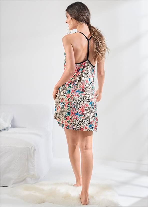 Full back view T-Back Sleep Dress