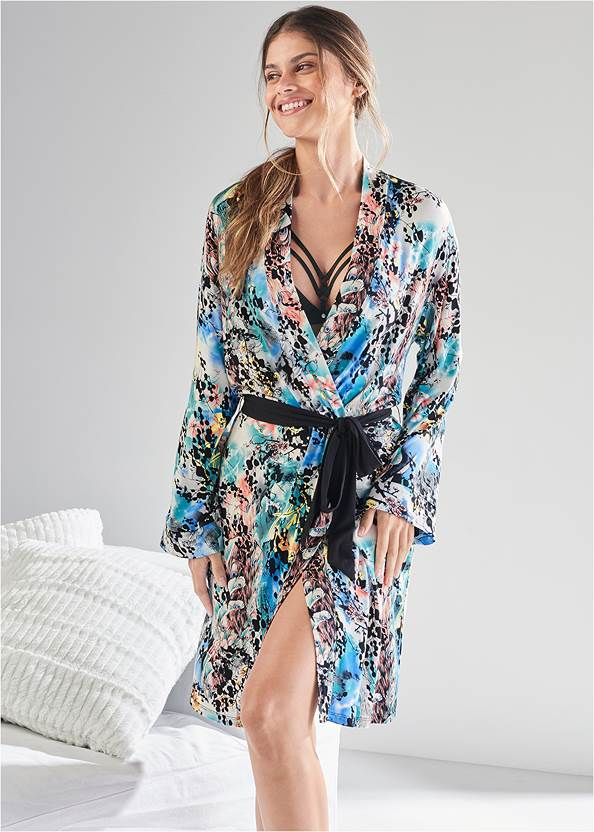 Sleep Kimono,Block Sleep Dress