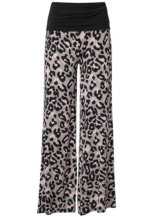 Ghost with background  view Palazzo Sleep Pants