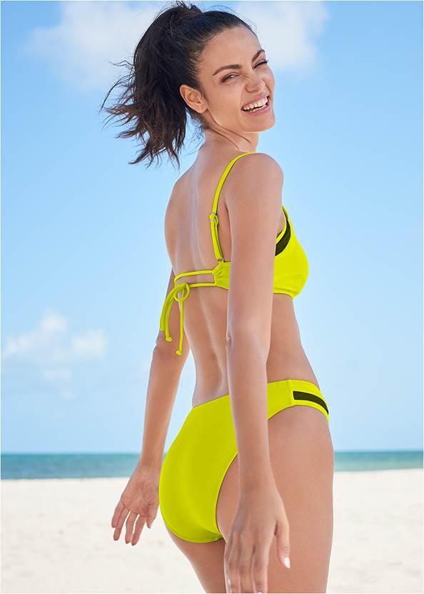 Back View Sports Illustrated Swim™ Mesh Scoop High Leg Bottom
