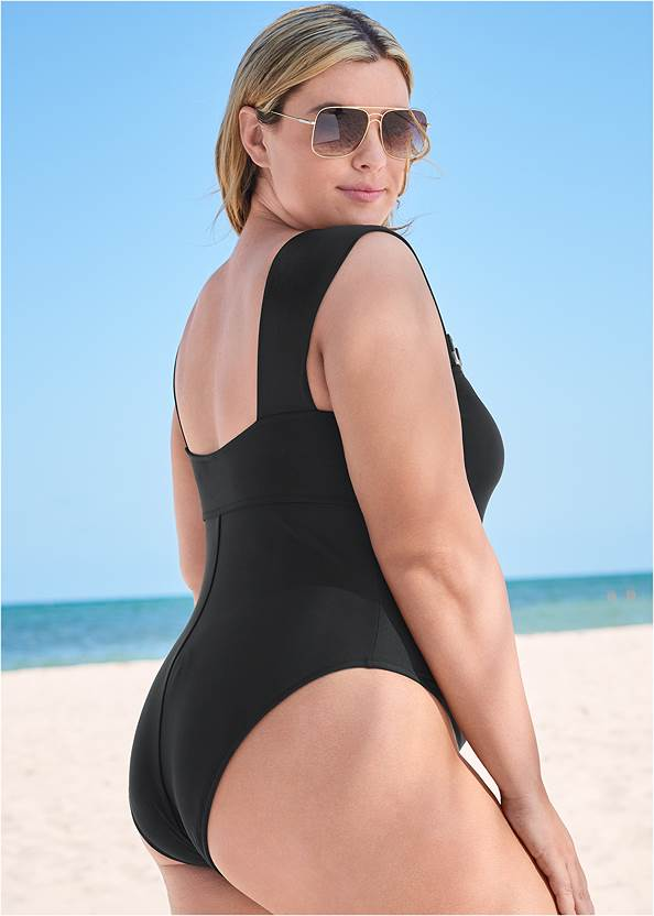 Back View Sports Illustrated Swim™ Chic And Sleek One-Piece