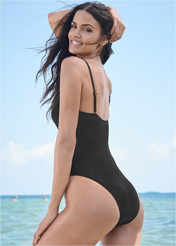 Back View Sports Illustrated Swim™ Unlined Underwire One-Piece