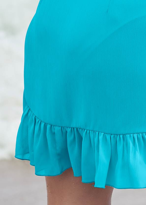 Alternate View Ruffle Trim Wrap Skirt