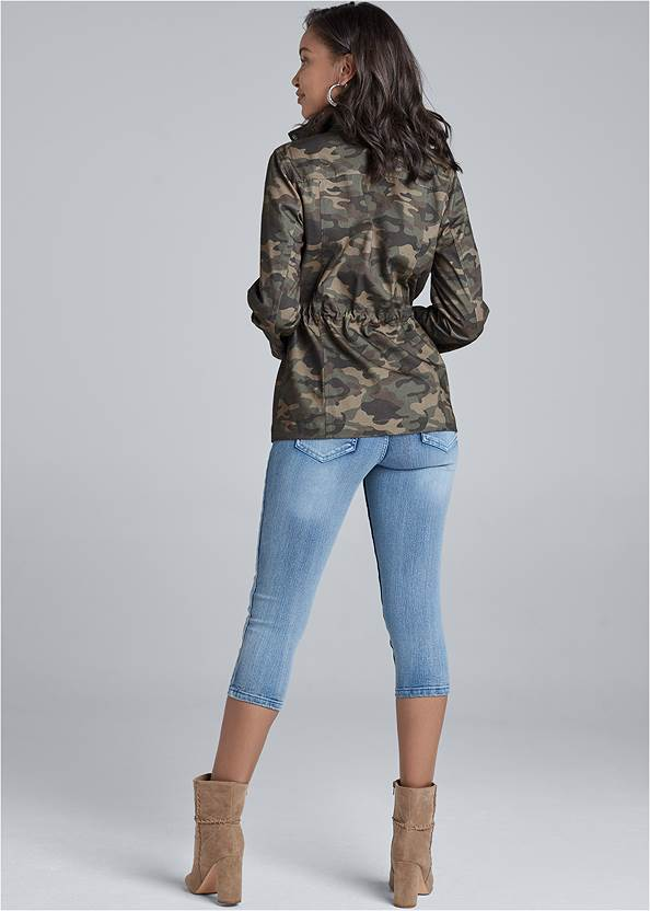 Cropped back view Camo Jacket
