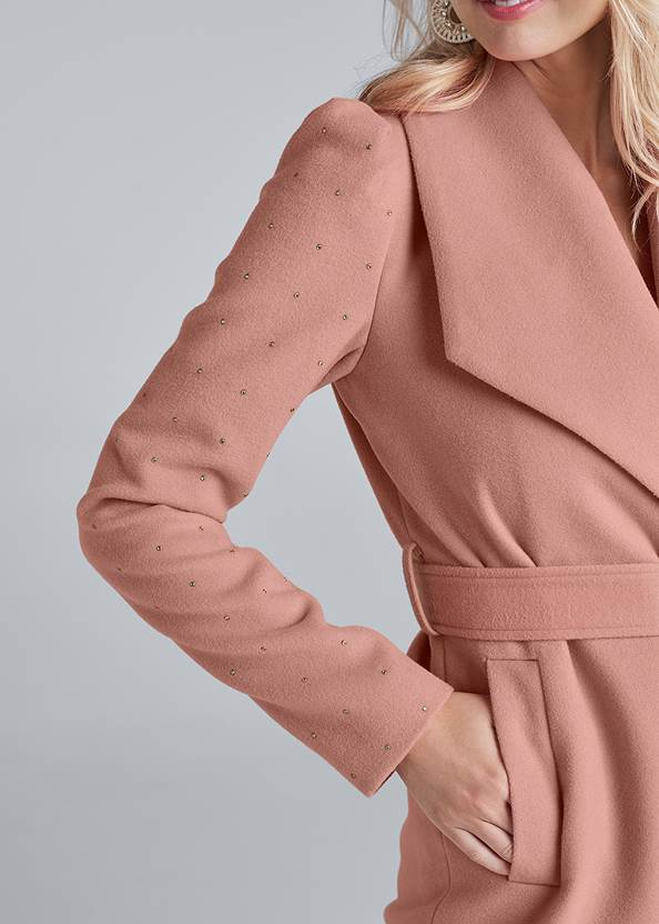 Alternate View Embellished Sleeve Coat