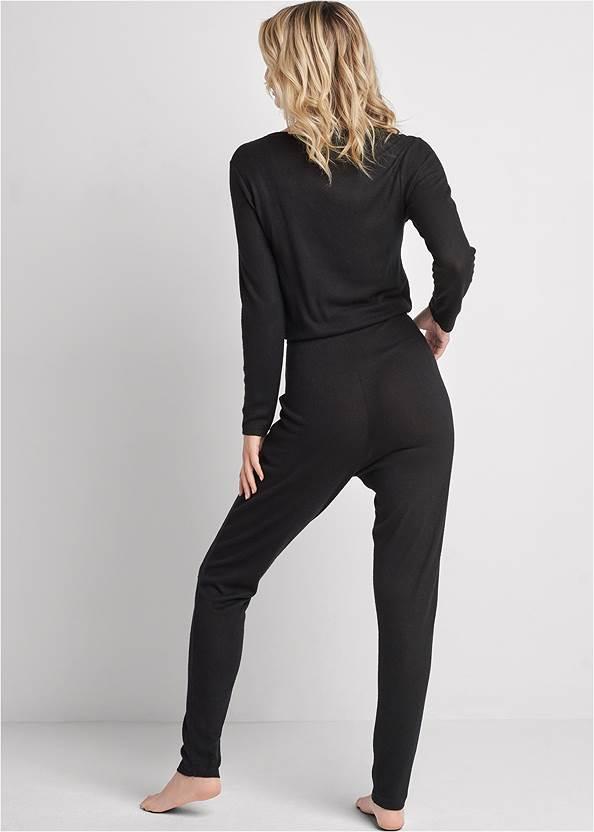 Alternate View Cozy Hacci Lace-Up Jumpsuit
