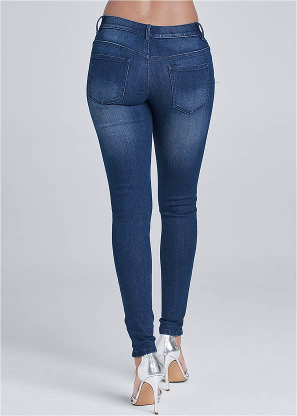 Back View Ripped Skinny Jeans