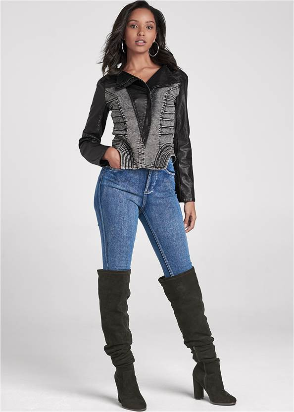 Alternate View Denim Faux Leather Jacket