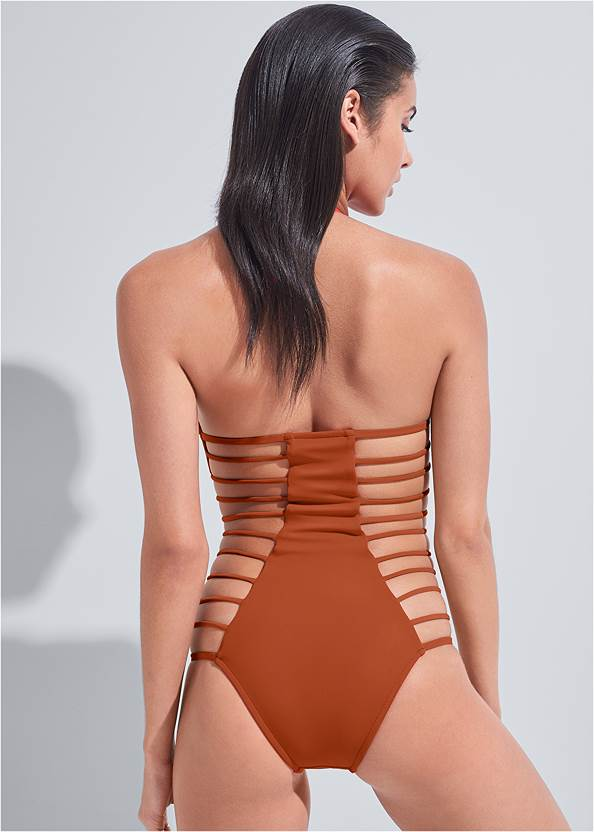 Back View Sports Illustrated Swim™ Strappy One-Piece