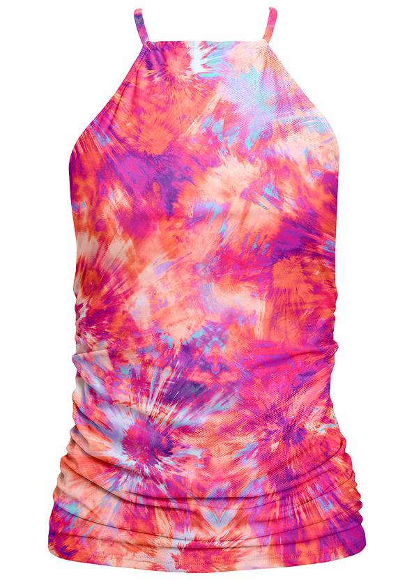 Ghost with background front view Ruched Side Halter Tankini Top