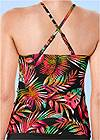 Detail back view Ruched Side Halter Tankini Top