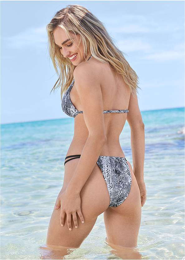 Back View Sports Illustrated Swim™ Push Up Halter Top