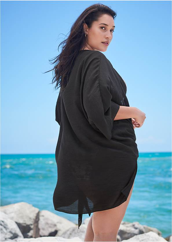 Back View Sports Illustrated Swim™ Tie Front Big Shirt