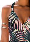 Detail  view Palm Printed Maxi Dress