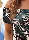 Detail  view Palm Print Romper