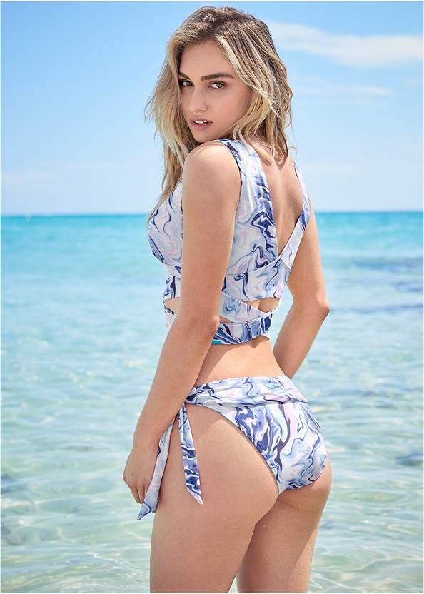 Back View Sports Illustrated Swim™ Wrap Around Triangle Top