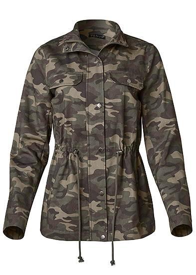 Plus Size Camo Jacket