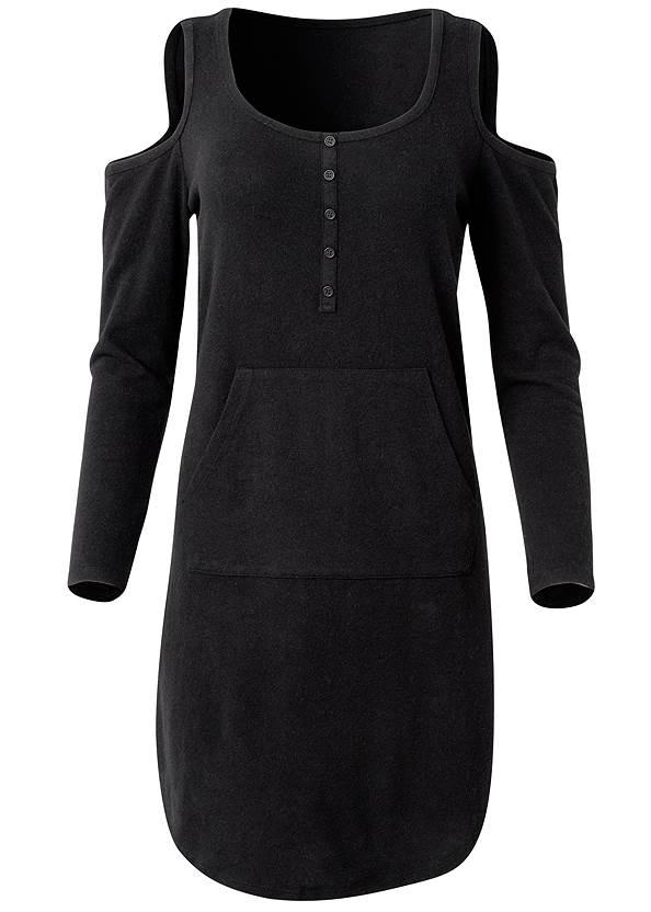 Alternate View Cozy Hacci Henley Dress