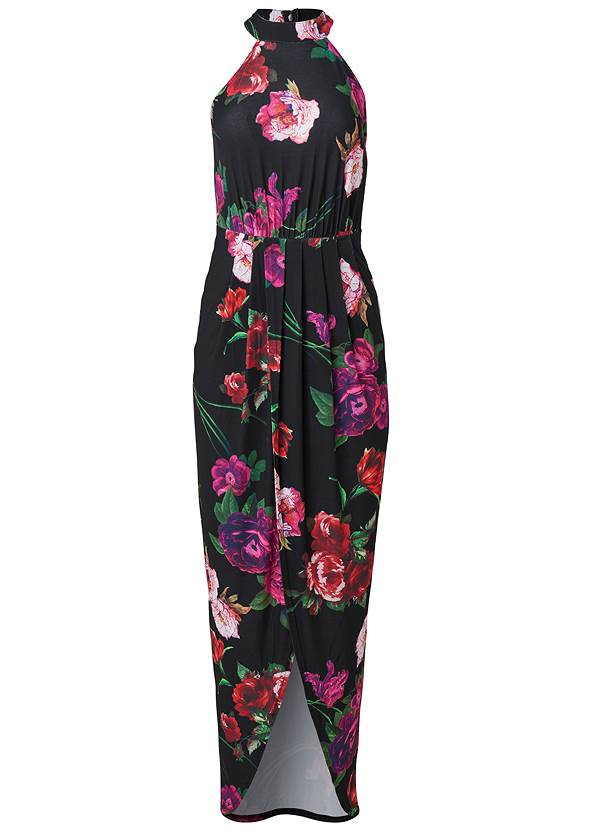 Alternate View Floral High-Low Maxi Dress