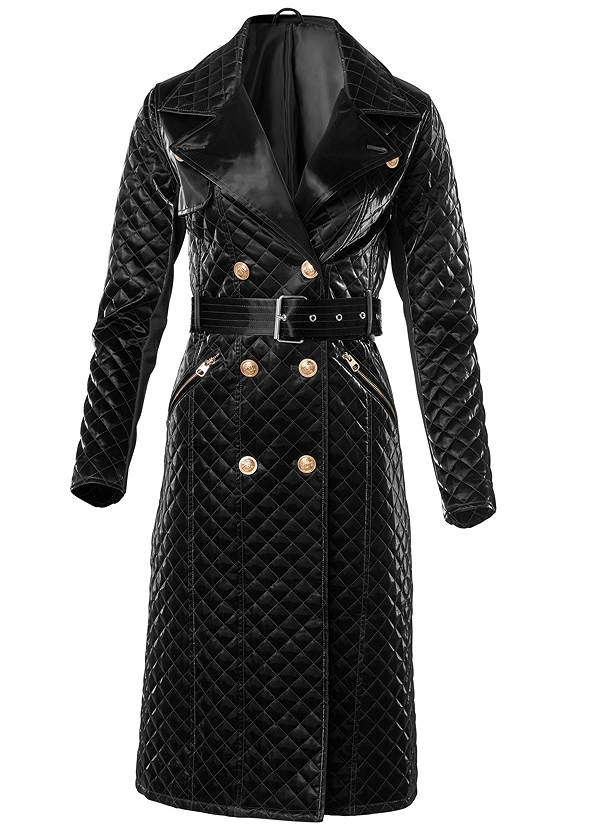 Ghost with background  view Quilted Buckle Detail Coat