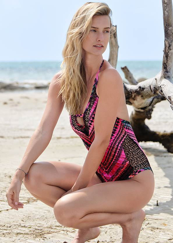 Alternate View Peek-A-Boo Lace One-Piece