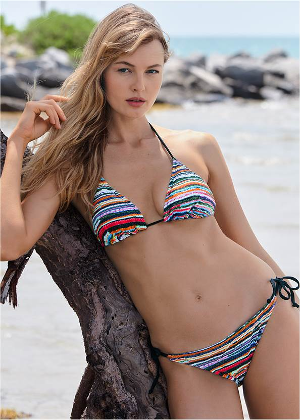 Triangle String Bikini Top,String Side Bikini Bottom