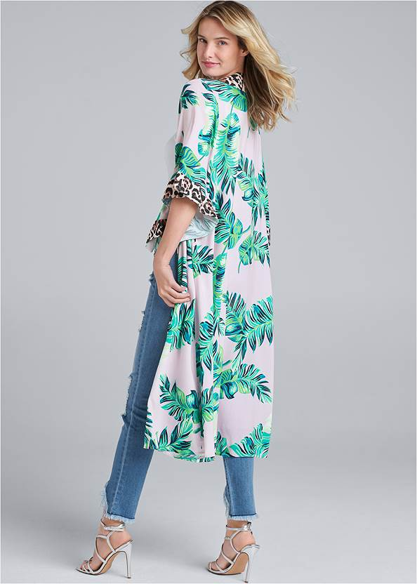 Full back view Palm Print Duster