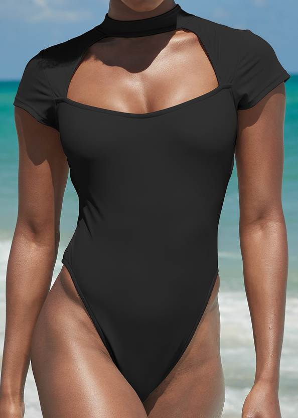 Detail front view Sports Illustrated Swim™ Alexa One-Piece