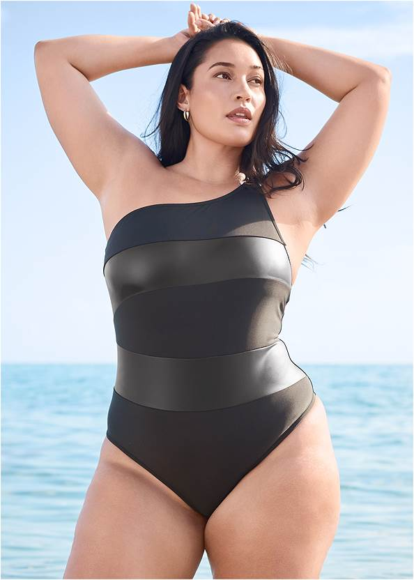 Alternate View Sports Illustrated Swim™ Color Block One Shoulder One-Piece
