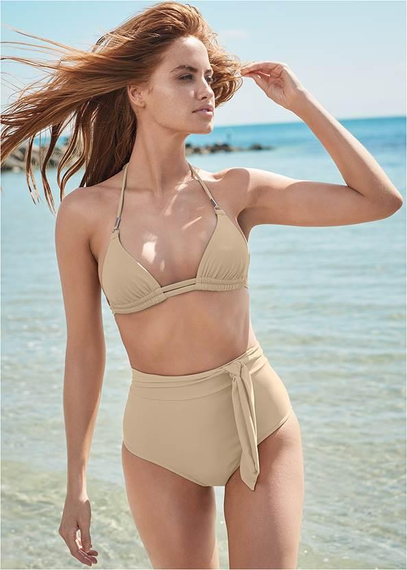 Sports Illustrated Swim™ High Waist Bottom,Sports Illustrated Swim™ Double Strap Triangle Top