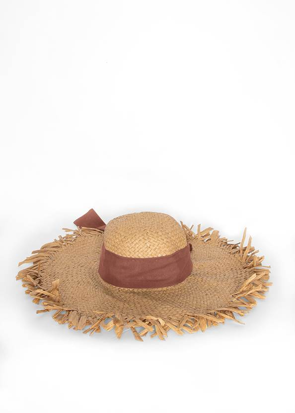 Front View Packable Straw Hat