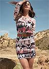 Front View Tie Dye Casual Dress
