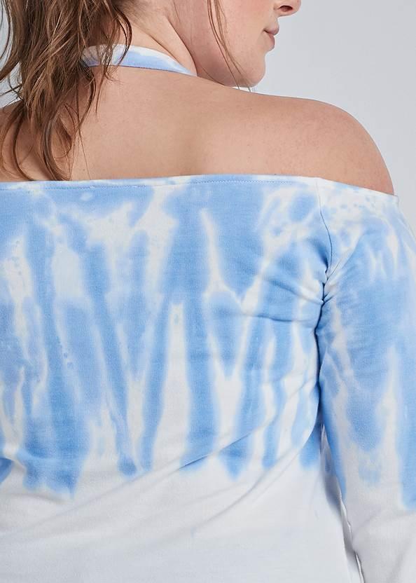 Alternate View Ombre Halter Neck Sweatshirt
