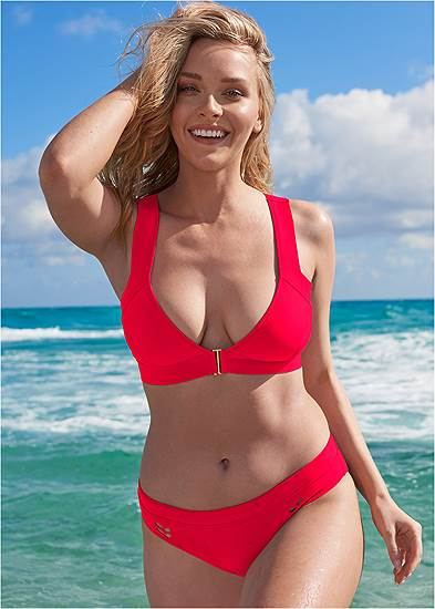 Plus Size Sports Illustrated Swim™ Front Close Triangle Top