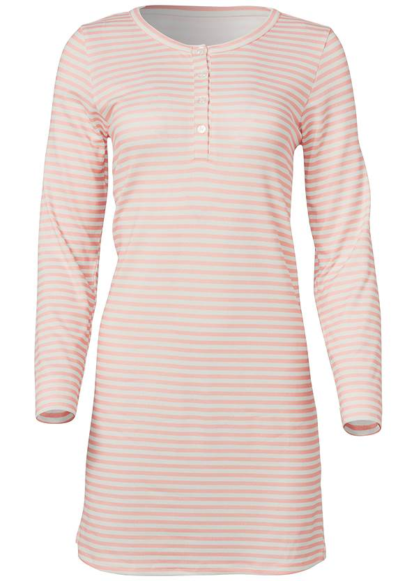 Ghost with background  view Henley Pullover Nightshirt